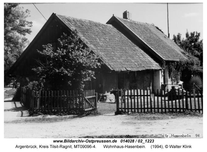 Argenbrück, Wohnhaus-Hasenbein