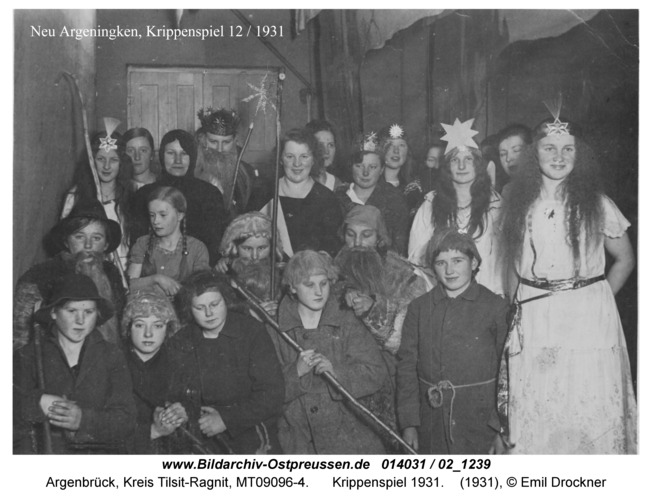 Argenbrück, Krippenspiel 1931