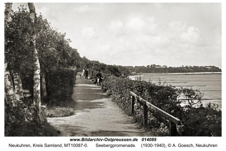 Neukuhren, Seebergpromenade