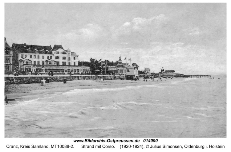 Cranz, Strand mit Corso