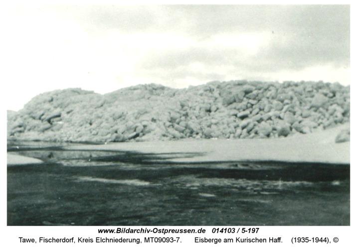 Tawe, Eisberge am Kurischen Haff