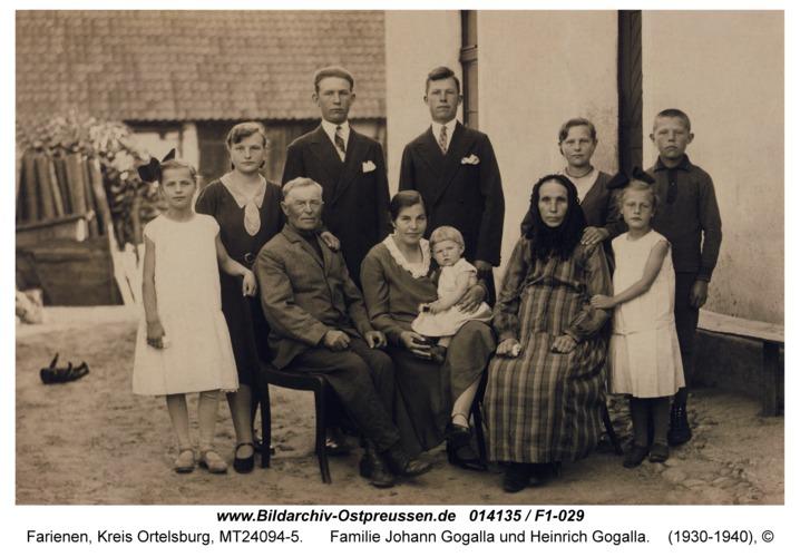 Farienen, Familie Johann Gogalla und Heinrich Gogalla