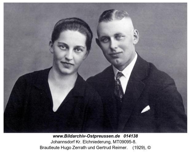 Johannsdorf, Brautleute Hugo Zerrath und Gertrud Reimer