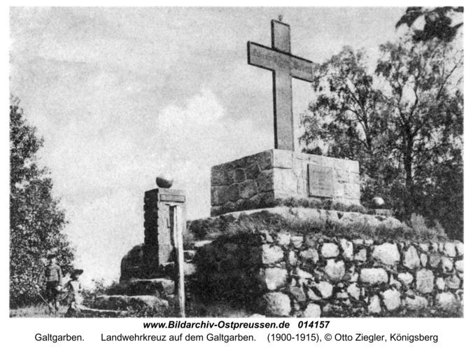 Galtgarben, Landwehrkreuz auf dem Galtgarben