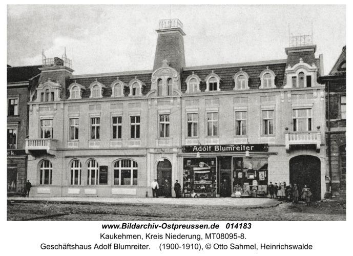 Kuckerneese fr. Kaukehmen, Geschäftshaus Adolf Blumreiter