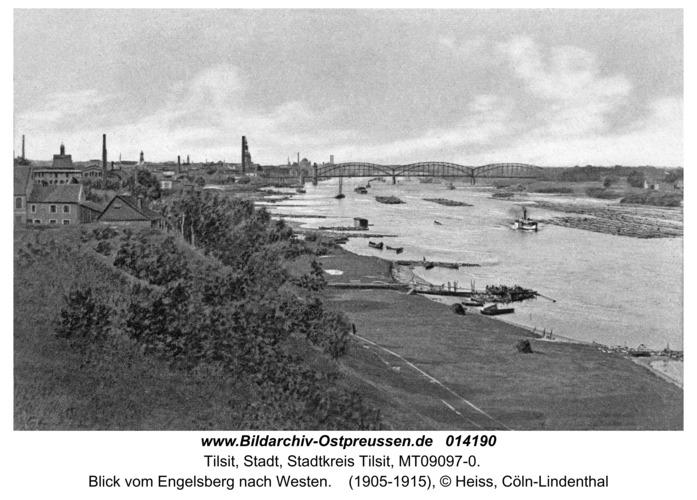 Tilsit, Blick vom Engelsberg nach Westen