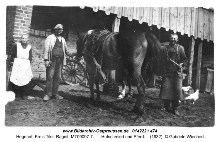 Hegehof, Hufschmied und Pferd