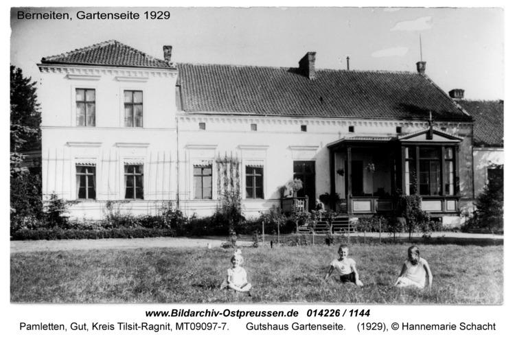 Pamletten-Gut, Gutshaus Gartenseite