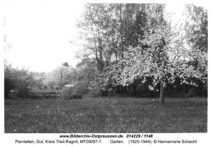 Pamletten-Gut, Garten