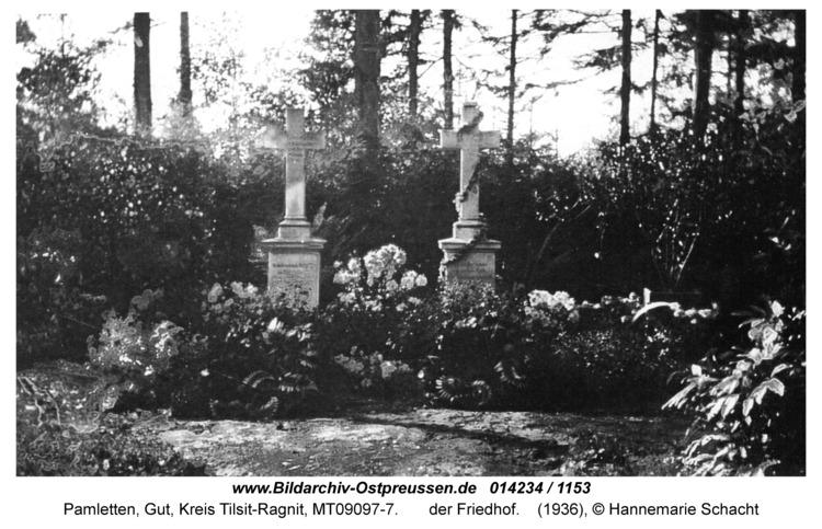 Pamletten-Gut, der Friedhof