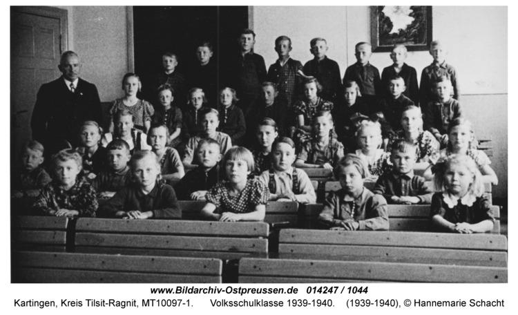 Kartingen, Volksschulklasse 1939-1940