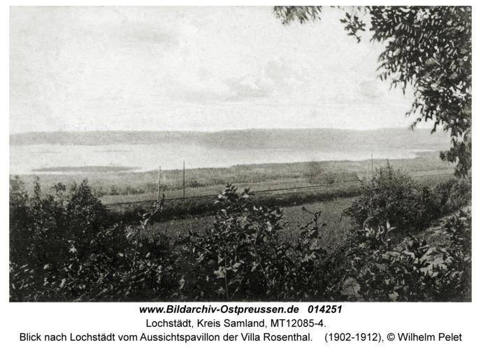Lochstädt, Blick nach Lochstädt vom Aussichtspavillon der Villa Rosenthal