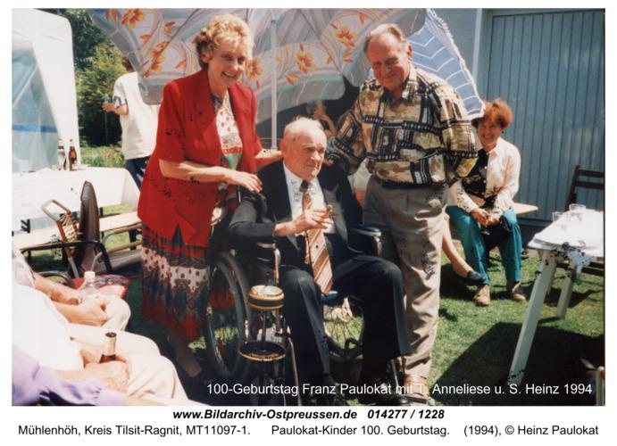 Mühlenhöh, Paulokat-Kinder 100-Geburtstag