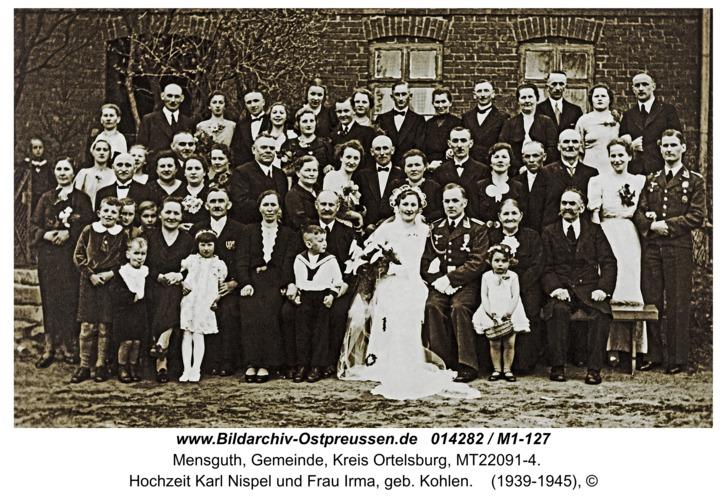 Mensguth, Hochzeit Karl Nispel und Frau Irma, geb. Kohlen