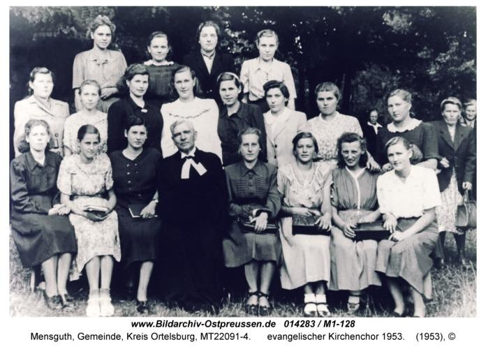 Mensguth, evangelischer Kirchenchor 1953