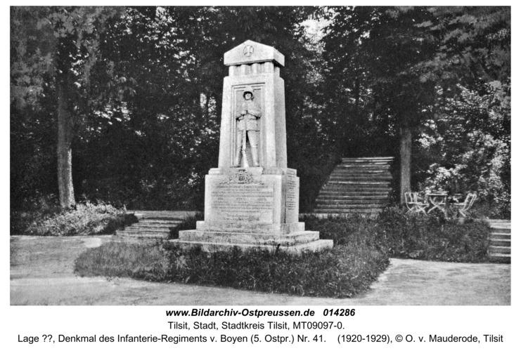 Tilsit, Lage ??, Denkmal des Infanterie-Regiments v. Boyen (5. Ostpr.) Nr. 41