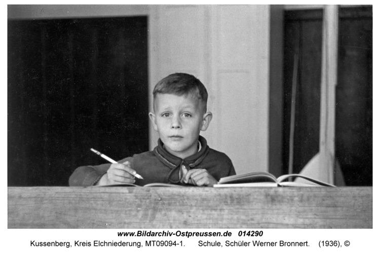 Kussenberg, Schule, Schüler Werner Bronnert