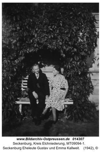 Seckenburg Eheleute Gustav und Emma Kallweit