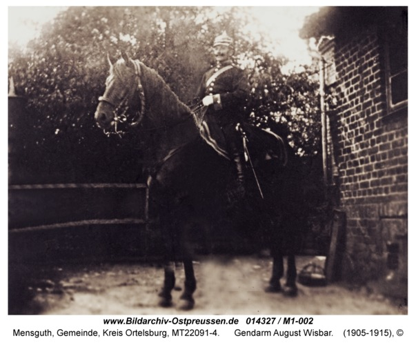 Mensguth, Gendarm August Wisbar