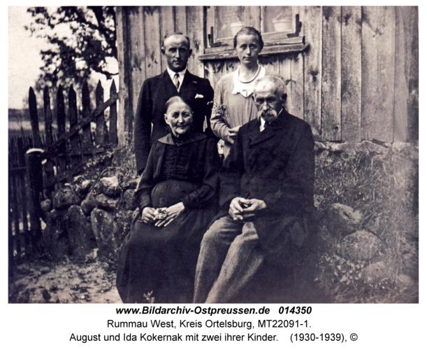 Rummau, August und Ida Kokernak mit zwei ihrer Kinder
