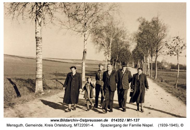 Mensguth, Spaziergang der Familie Nispel