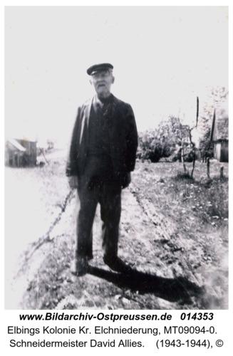 Elbings Kolonie, Schneidermeister David Allies