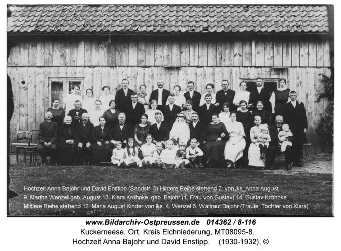 Kuckerneese, Hochzeit Anna Bajohr und David Enstipp