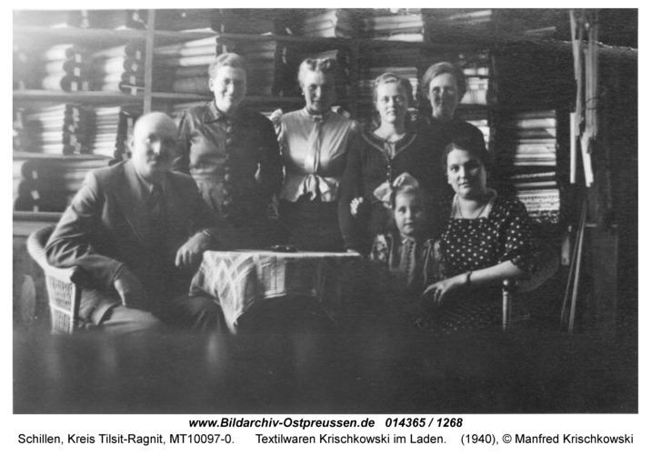Schillen, Textilwaren Krischkowski im Laden