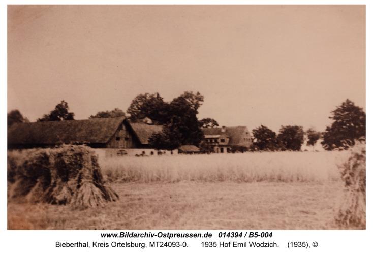 Bieberthal, 1935 Hof Emil Wodzich