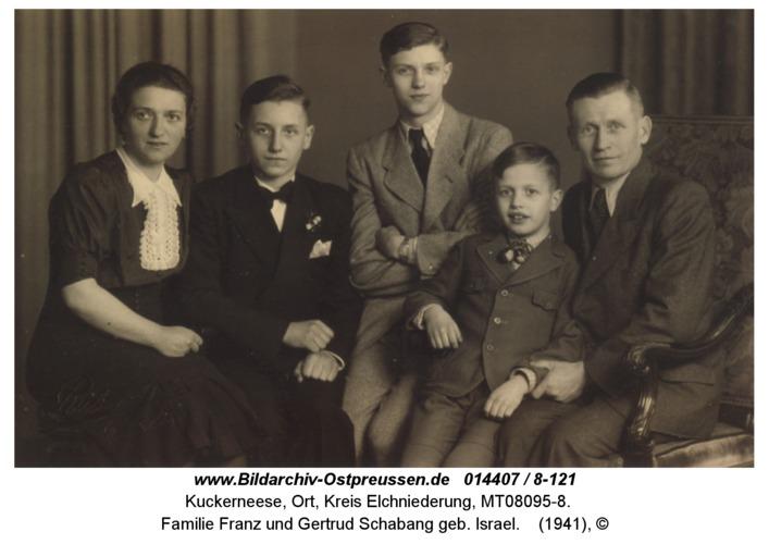 Kuckerneese, Familie Franz und Gertrud Schabang geb. Israel