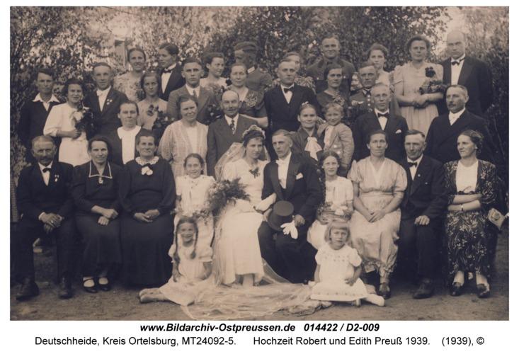 Deutschheide, Hochzeit Robert und Edith Preuß 1939