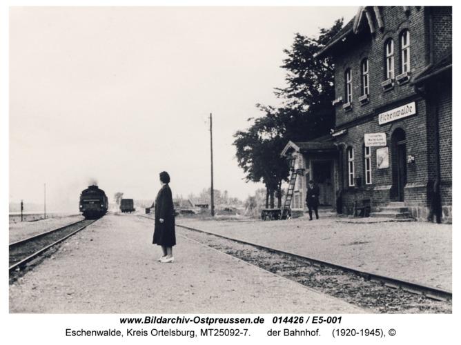 Eschenwalde, der Bahnhof