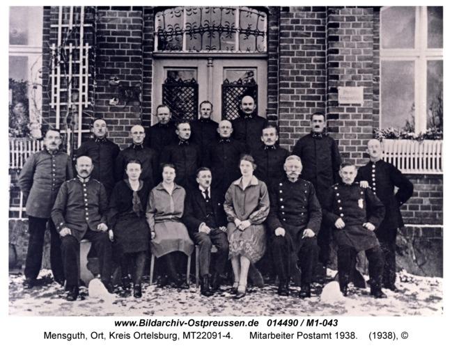 Mensguth, Mitarbeiter Postamt 1938