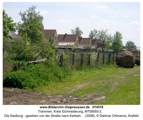 Trammen, Die Siedlung - gesehen von der Straße nach Karkeln