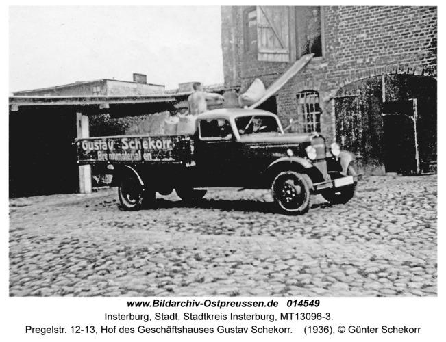 Insterburg, Pregelstr. 12-13, Hof des Geschäftshauses Gustav Schekorr