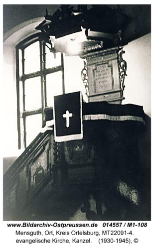 Mensguth, evangelische Kirche, Kanzel