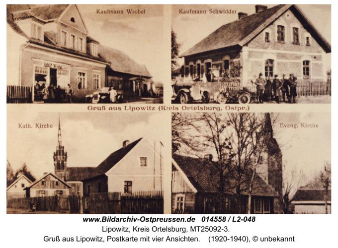 Lindenort, Gruß aus Lipowitz (Kreis Ortelsburg, Ostpr.)