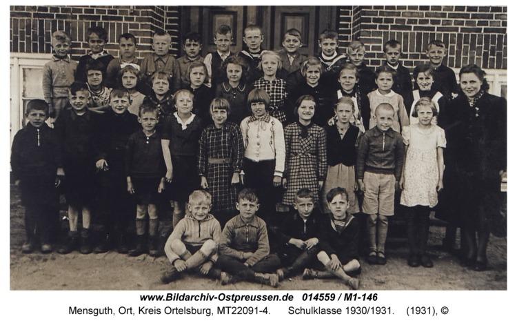 Mensguth, Schulklasse 1930/1931
