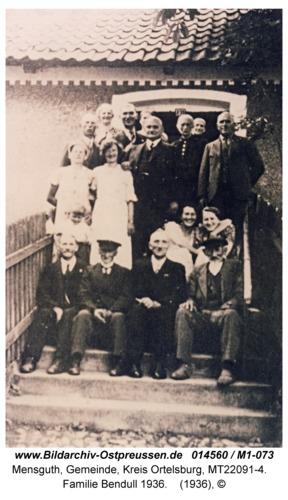 Mensguth, Familie Bendull 1936