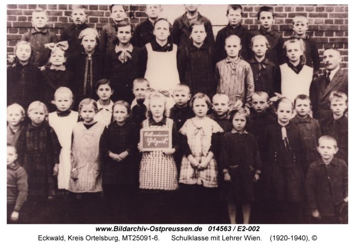 Eckwald, Schulklasse mit Lehrer Wien