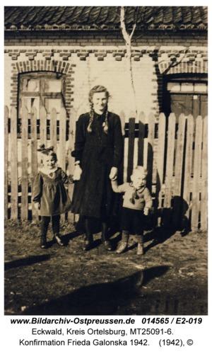 Eckwald, Konfirmation Frieda Galonska 1942