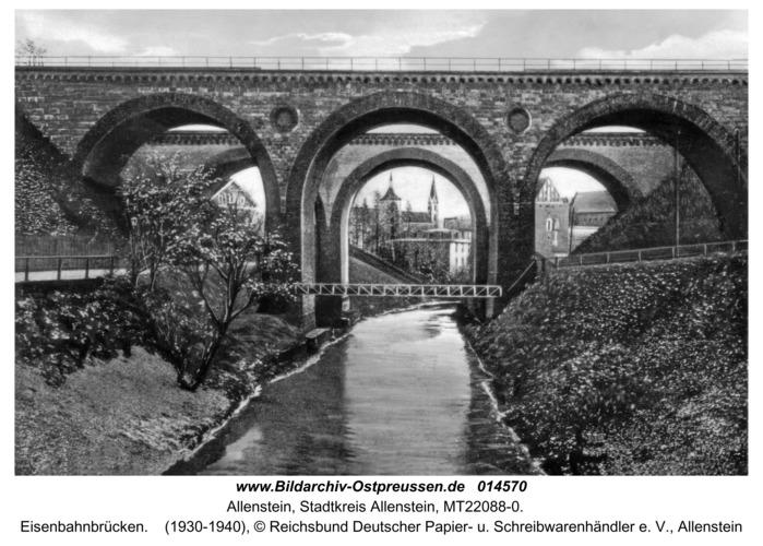 Allenstein, Eisenbahnbrücken