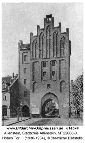 Allenstein, Hohes Tor