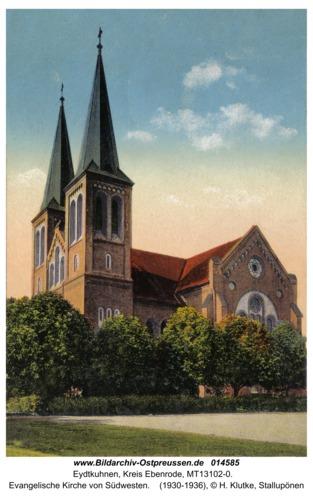 Eydtkau, Evangelische Kirche von Südwesten