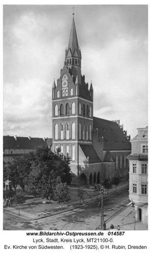 Lyck, Ev. Kirche von Südwesten