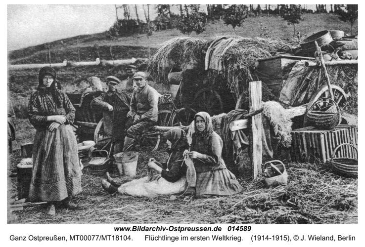Ostpreußen, Flüchtlinge im ersten Weltkrieg