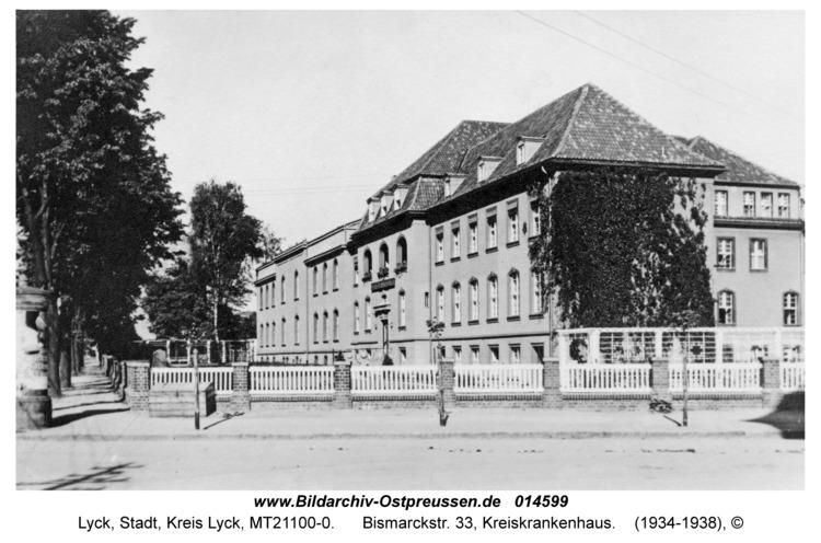 Lyck, Bismarckstr. 33, Kreiskrankenhaus