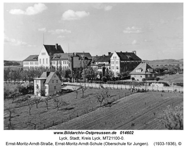 Lyck, Ernst-Moritz-Arndt-Straße, Ernst-Moritz-Arndt-Schule (Oberschule für Jungen)