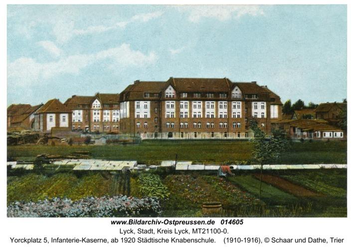 Lyck, Yorckplatz 5, Infanterie-Kaserne, ab 1920 Städtische Knabenschule