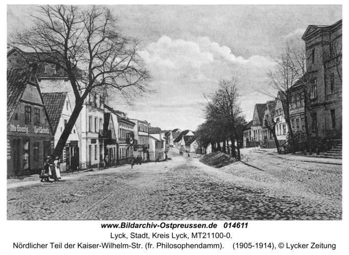 Lyck, Nördlicher Teil der Kaiser-Wilhelm-Str. (fr. Philosophendamm)